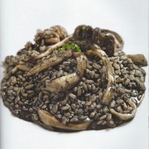 Blu Pesca Srl - le nostre ricette - risotto al nero di seppia